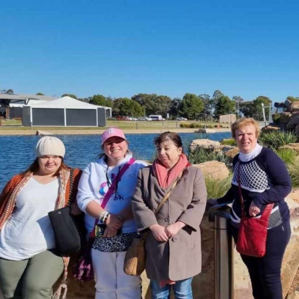 The Lilac group enjoying a day at the Malt house. -