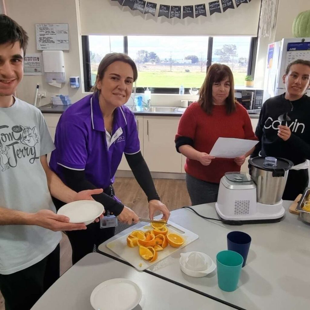 The Lilac group are trying their hands at making jams ! -