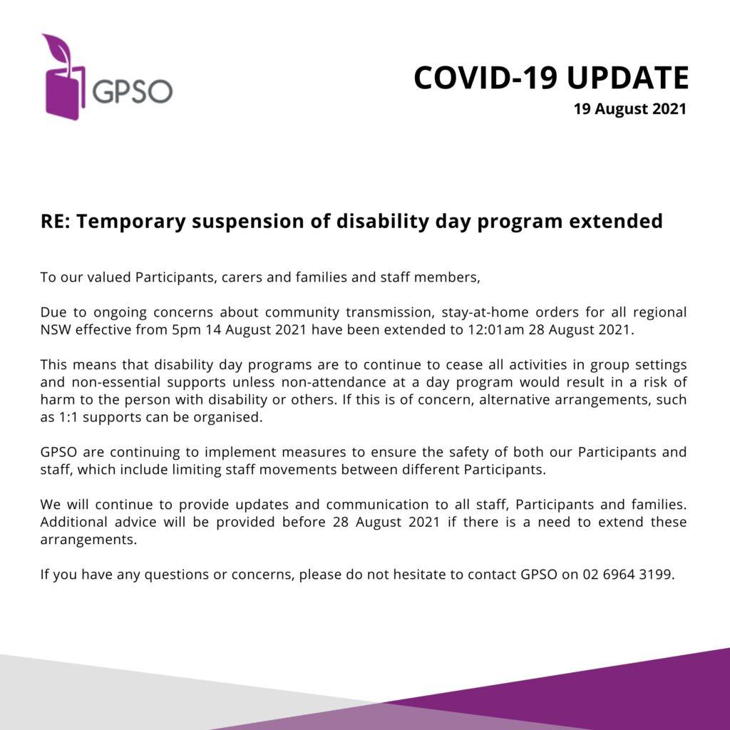 COVID-19 Update - 19 August 2021 -