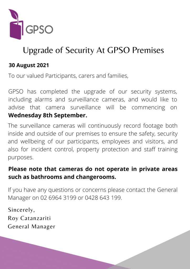 Upgrade of Security at GPSO Premises -